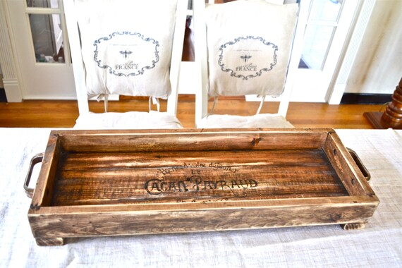 Like this item? - Reclaimed Wood Tray Handmade 28 Long And Narrow Unique