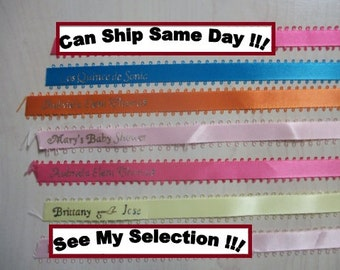 Personalized Ribbons (Ship Fast w/Tracking)