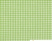 "Green 1 / 8"" Inch Checkered Gingham Poly Cotton, 60 Inches Wide By The Yard / Roll"