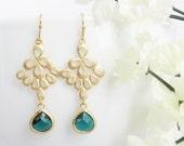 Mother's Day, Gold Dangle Earrings, Dangle Earrings, Drop Earrings, Mother Earrings, Mother Gift, Bridesmaid Earrings, Wedding Earrings