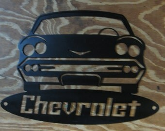 Metal wall plaque, Chevrolet
