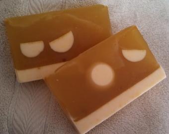 Tangerine hand made glycerin soap