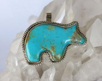 Turquoise Bear Pendant