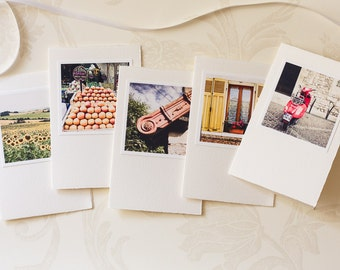 French Country Notecards, Set of blank photo cards, France Photography