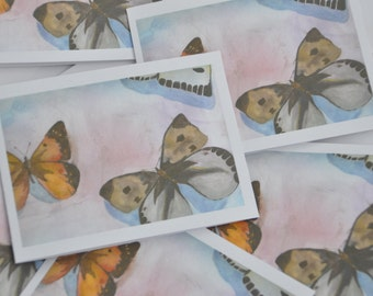 Blank Cards with Envelope (4 pack) - FREE SHIPPING - blank interior, fine art reprint front