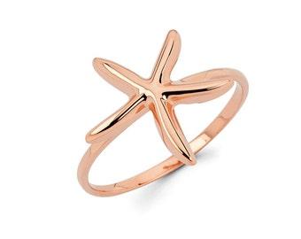 Starfish, starfish ring, gold starfish, sea jewelry, starfish jewelry, sealife, dainty jewelry