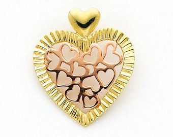 Gold Heart, 14K Gold Heart, 14K Heart Pendant, Heart pendant, Heart Knecklace, Rose Gold Heart, Hearts Pendant, Heart Jewelry