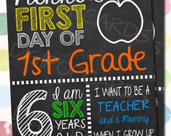 First day of school first day of school signs template for First day of school sign template