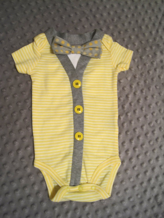 Infant onepieces bow tie bodysuits baby outfit by for Baby shirt and bow tie