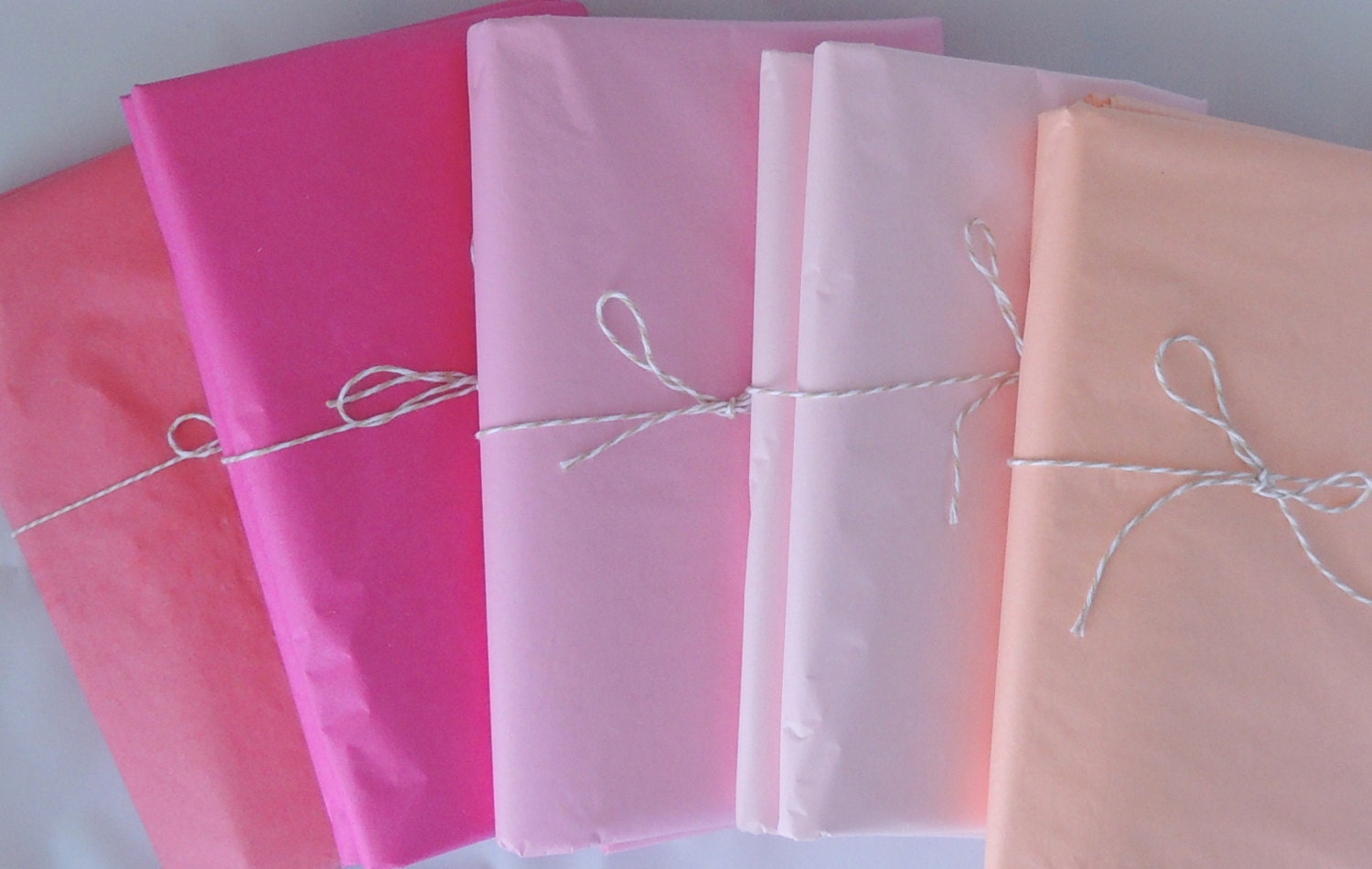 tissue paper pink ombre 5 shades of pink premium tissue. Black Bedroom Furniture Sets. Home Design Ideas