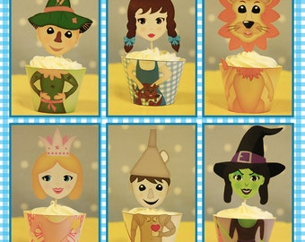 Wizard of Oz Party Cupcake Wrappers