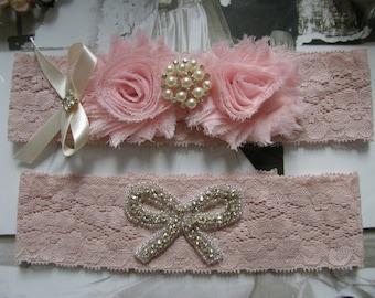 Garter / Wedding Garters / Wedding Garter Belt / Bridal Garter / Toss Garter / Garter Set / Vintage Inspired Lace Garter