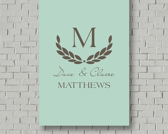 Wedding Signs Guest Book Sign Wedding Guest Book Alternative Wedding Gift Monogram Guest Book Anniversary Gift Idea Wedding Canvas Guestbook