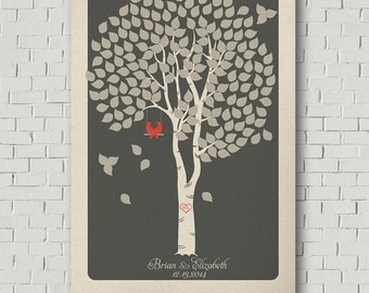 Weddings - Weddding Guest Book Alternative - Wedding Keepsake - Guest Book Print - Wedding Tree - Wedding Poster - Guest Book Tree