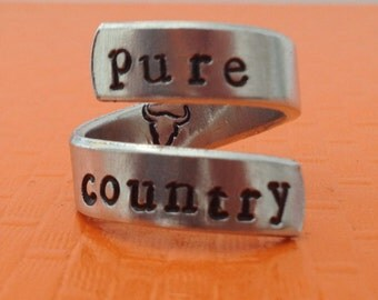 Pure Country Twist Ring - Country Lover Ring, Gift Under 20