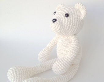 Bear Plush, Bear Stuffed Animal, Bear Plushie, Bear Stuffed Toy, Crochet Bear, Teddy Bear, Polar Bear Plush