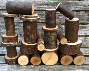 Set of 25 Woodland building blocks