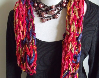cheerful coloured short scarf (102/14 cm)