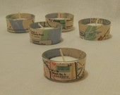 New York City Subway Map Tea Light Candle Holder- includes candle