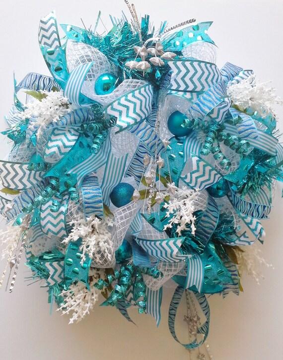 Deco mesh door wreath white and silver metallic oasis deco mesh wreath