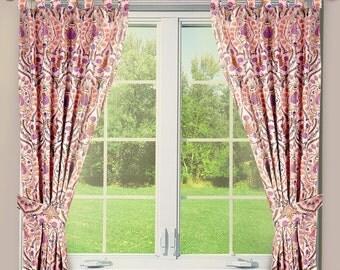 Custom  Tab Top Curtains