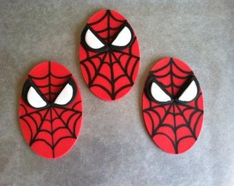 2 Dozen Fondant Super Hero Spiderman Cupcake Toppers
