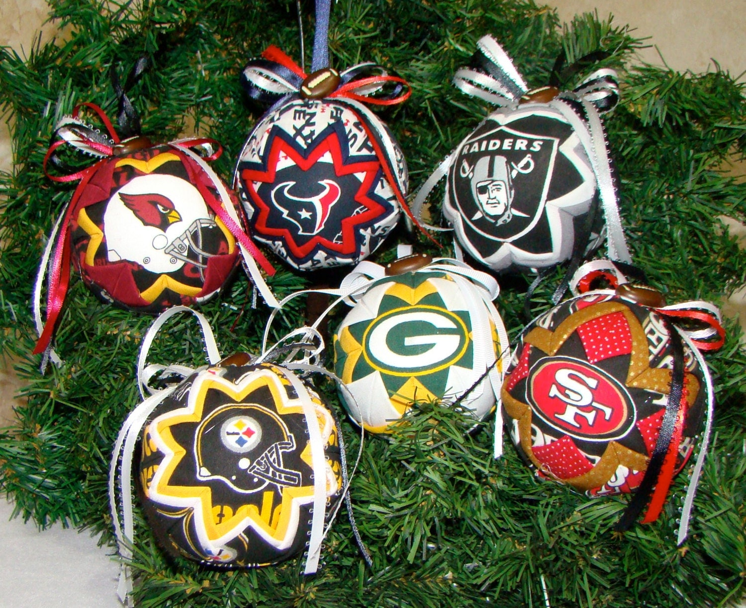 NFL Ornaments 49ers Ornament Packers by My2ShaySportsApparel