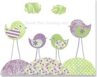 Popular items for nursery bird art on Etsy