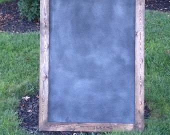 Extra large magnetic chalkboard - 28x40 - with rustic wood frame