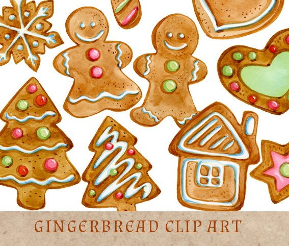 Gingerbread Cookies Clipart Christmas Clip Art by ...