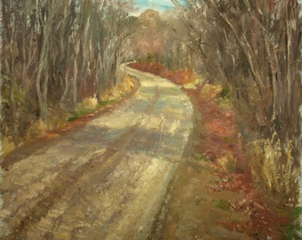 Original Landscape Oil Painting-Road to Stone Valley