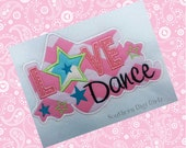 Love Dance Applique Embroidery Design (INSTANT DOWNLOAD)