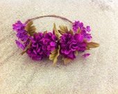 Magenta Floral Crown