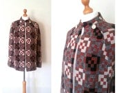 1960s welsh wool tapestry cape - EllaandFrankVintage