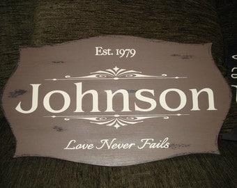 Vintage Name Sign