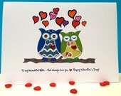 Valentine Card | Owl Valentine's Day Card, Valentine Card for Wife, Love Greetings Card