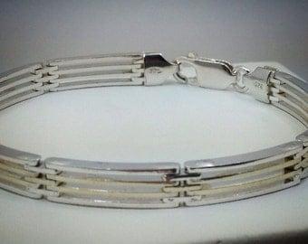 "Sterling silver 7 1/4"" bracelet."