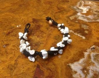 Howlite Hemp Bracelet