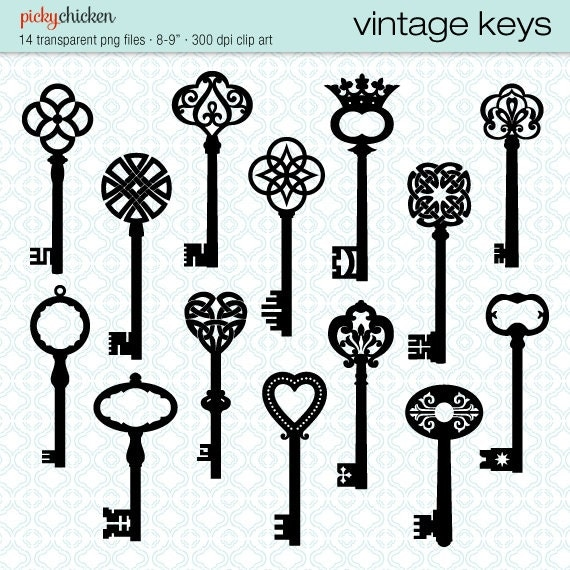 vintage keys clip art 14 black skeleton key celtic victorian. Black Bedroom Furniture Sets. Home Design Ideas