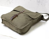 Vintage Messenger Bag Green Military Army Canvas Bag Soviet Unused USSR Cold War Collectible supply  Leather  Army Bag Crossbody Bag ohtteam