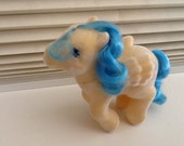 "SALE! So soft ""Bouncy"" Rare My Little Pony AMAZING FLOCKING"