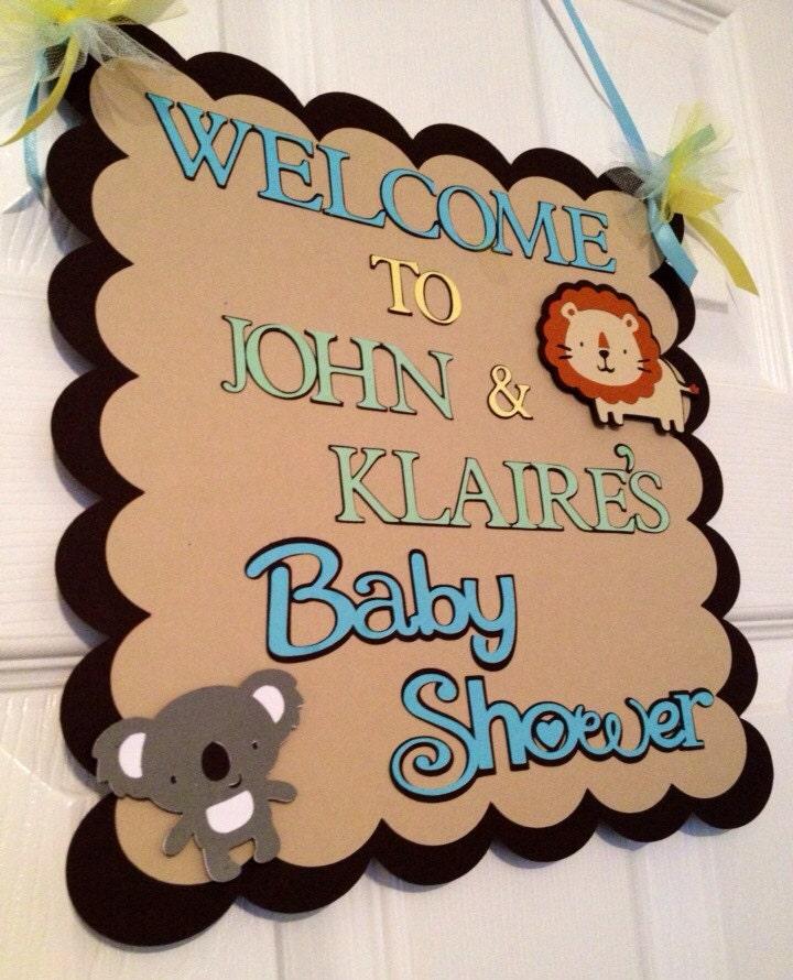 safari or zoo themed baby shower door s
