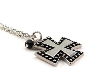 On Sale Cross Necklace Silver Chain