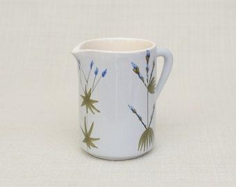 Vintage French Ceramist Roger CAPRON Vallauris, France Ceramic Pichet Jug with Wild Flowers