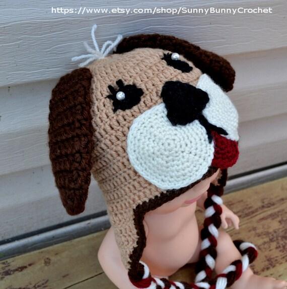 Crochet Baby Hat Patterns Dog : CROCHET HAT PATTERN, Baby Crochet Pattern, Animal Hat ...
