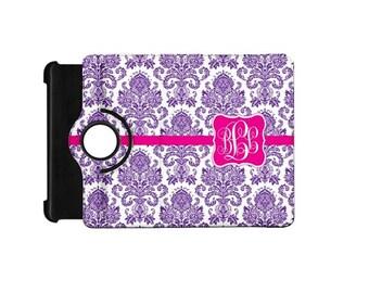 Monogrammed Kindle Fire HD 7 inch 360 booklet case-You design