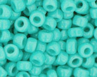TOHO Seed Bead 8/0 ~ Opaque Turquoise ~ 8 Grams (TR-08-55) A-7