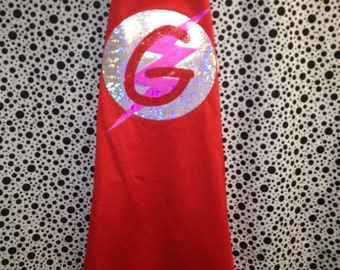 Red Personalized Super Hero Cape