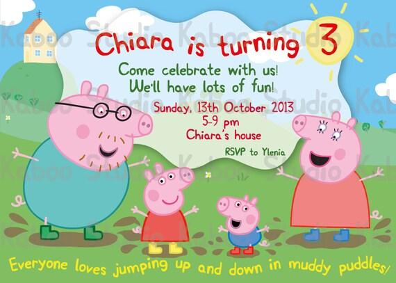 DIGITAL Muddy Peppa Pig Family Birthday by KabooStudioDigitals