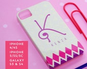 Personalized IPhone 4/4S & IPhone 5/5S/5C, Samsung Galaxy S3/S4 cases - phone cases - Moroccan Jannah Collection - Monogrammed Custom cases